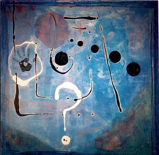 ¿...? by Malamalaka, óleo y pintura sobre tela, 115x115 cm